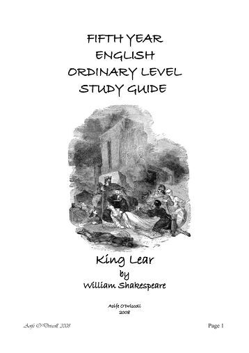 An essay on william shakespeares tragedy king lear
