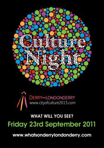 Derry - Londonderry's - Culture Night 2012