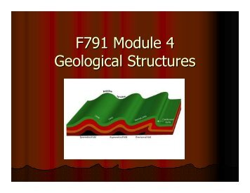 F791 Module 4 Geological Structures