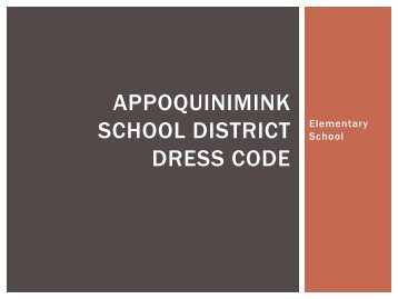 Elementary Dress Code July 2012.pdf - Appoquinimink School District
