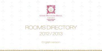 ROOMS DIRECTORY - Savoy Westend Hotel