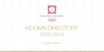 ROOMS DIRECTORY - Savoy Westend Hotel