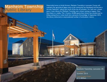 New Building - Manheim Township Public Library