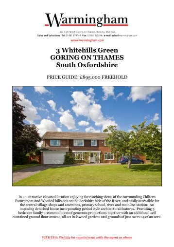3 Whitehills Green GORING ON THAMES South Oxfordshire