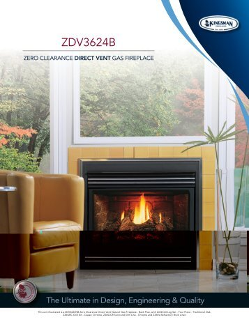 """36"""" Direct Vent Gas Fireplaces ZDV3624B - HVAC For Life"""