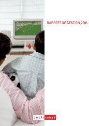 Rapport de gestion 2006 - Publisuisse SA