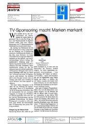 TV-Sponsoring macht Marken markant - Publisuisse SA