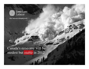 Canada's economy will be modest but stable in 2012 - Kevin Kelley