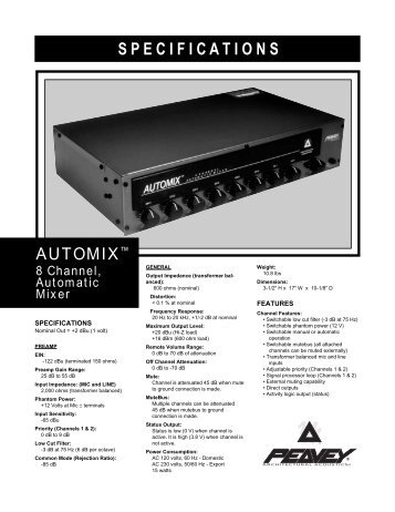 Automix SS - Peavey