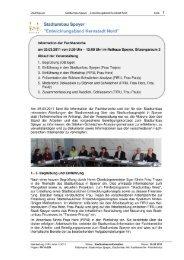 Stadtumbau, Info Fachbereiche - Speyer
