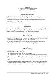 Satzung Martha-Eugenie-Purrmann-Stiftung - Speyer