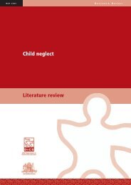 Child neglect - literature review - NSW Department of Community ...