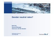 Gender neutral rates? - International Actuarial Association