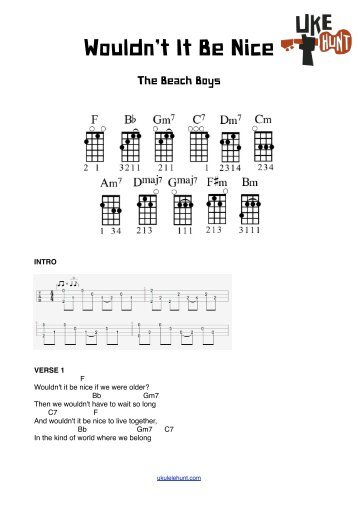 Stayin Alive Chords Ukulele Hunt