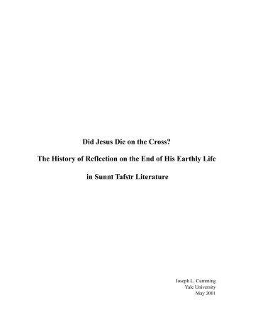 Did Jesus Die on the Cross? - Yale University