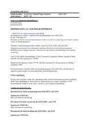 saksframlegg oppfølging av agenda-rapporten - Klepp kommune