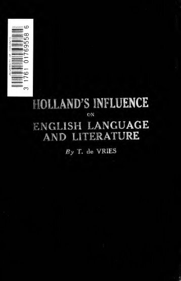 Holland's influence on English language and literature