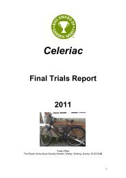 Read the Trial Report - Royal Horticultural Society