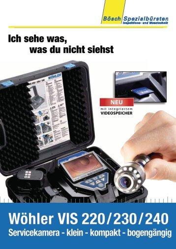 Wöhler VIS 220/230/240 Servicekamera - klein - kompakt