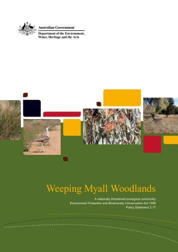 Weeping Myall woodlands - EPBC Act policy statement 3.17