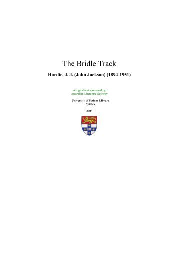The Bridle Track - Setis