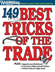 1 0 tricksfor - Popular Woodworking Magazine