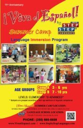 Brochure Summer Camp 2013