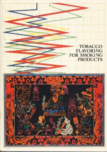 tobacco flavoring for smoking products - Leffingwell & Associates