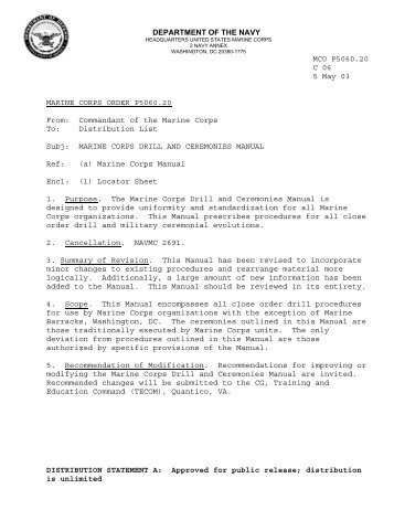 drills and ceremony rh yumpu com navy league drill manual australian navy drill manual