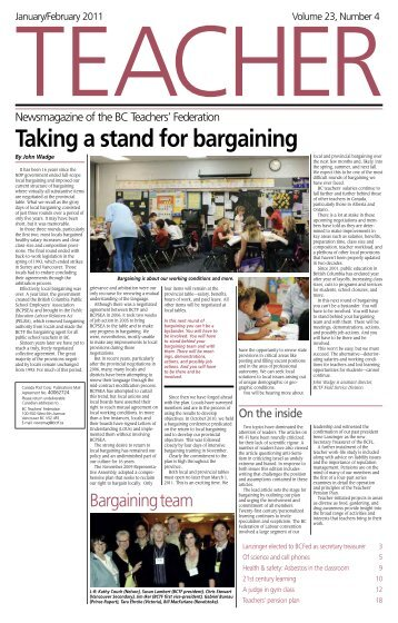 Taking a stand for bargaining - British Columbia Teachers' Federation