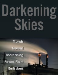 Trends Toward Increasing Power Plant Emissions Trends Toward ...