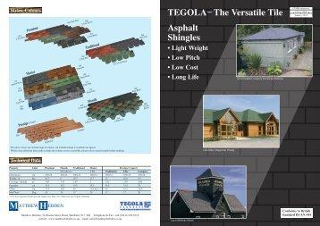 TEGOLA The Versatile Tile Asphalt Shingles ... - Matthew Hebden