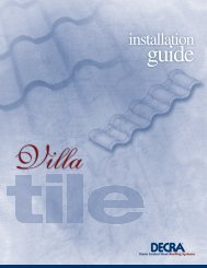 Villa Tile Installation Guide - Decra
