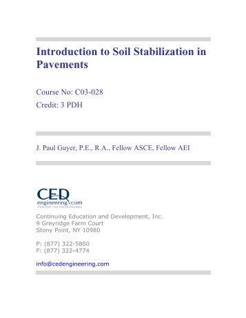 Introduction to Soil Stabilization in Pavements - CED Engineering