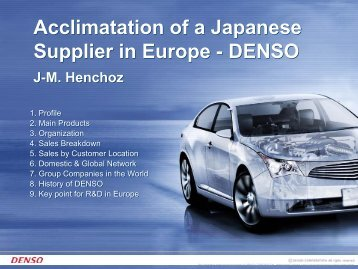 Denso - EU-Japan Centre for Industrial Cooperation