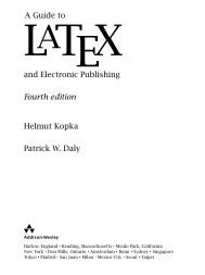Guide to LaTeX (4th Edition) (Tools and Techniques