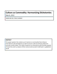 Culture as Commodity: Harmonizing Dichotomies - Institute for ...