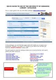 ROBLE catalogue quick guide - Biblioteca de la Universidad de ...
