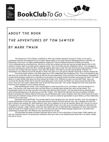 The Adventures of Tom Sawyer - Black Cat
