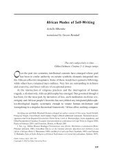 African Modes of Self-Writing - The New School