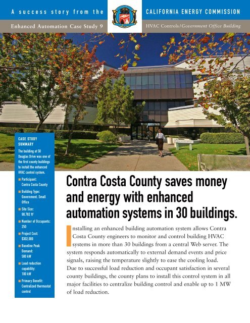Contra Costa County - Government Office Building (PDF file