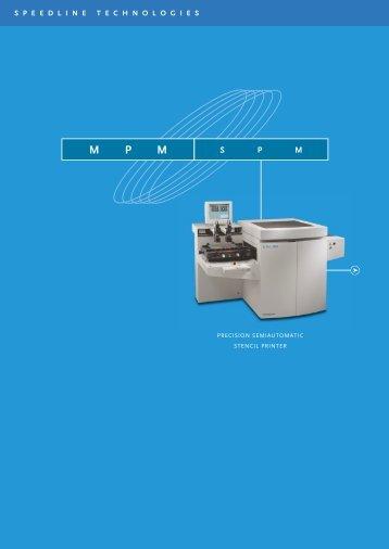 MPM S P M - Precision Placement Machines