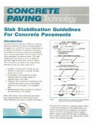 Slab Stabilization Guidelines For Concrete Pavements