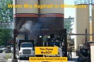 Warm Mix Asphalt in Minnesota