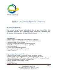 Product List: Drilling Specialty Chemicals - Atlantic Industrial Supply ...