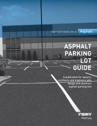 Parking lots - Plantmix Asphalt Industry of Kentucky PAIKY