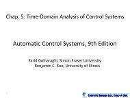 Automatic Control Systems, 9th Edition