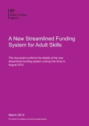 A New Streamlined Funding System for Adult Skills