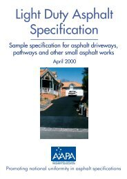 Light Duty Asphalt Specification - Australian Asphalt Pavement ...