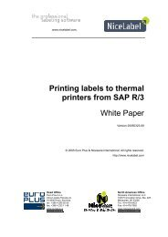 Printing labels to thermal printers from SAP R/3 - NiceLabel
